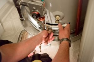 inspecting-water-heater